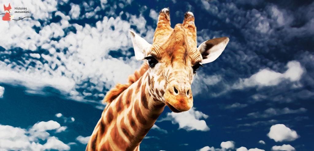 La girafe à pois rouges