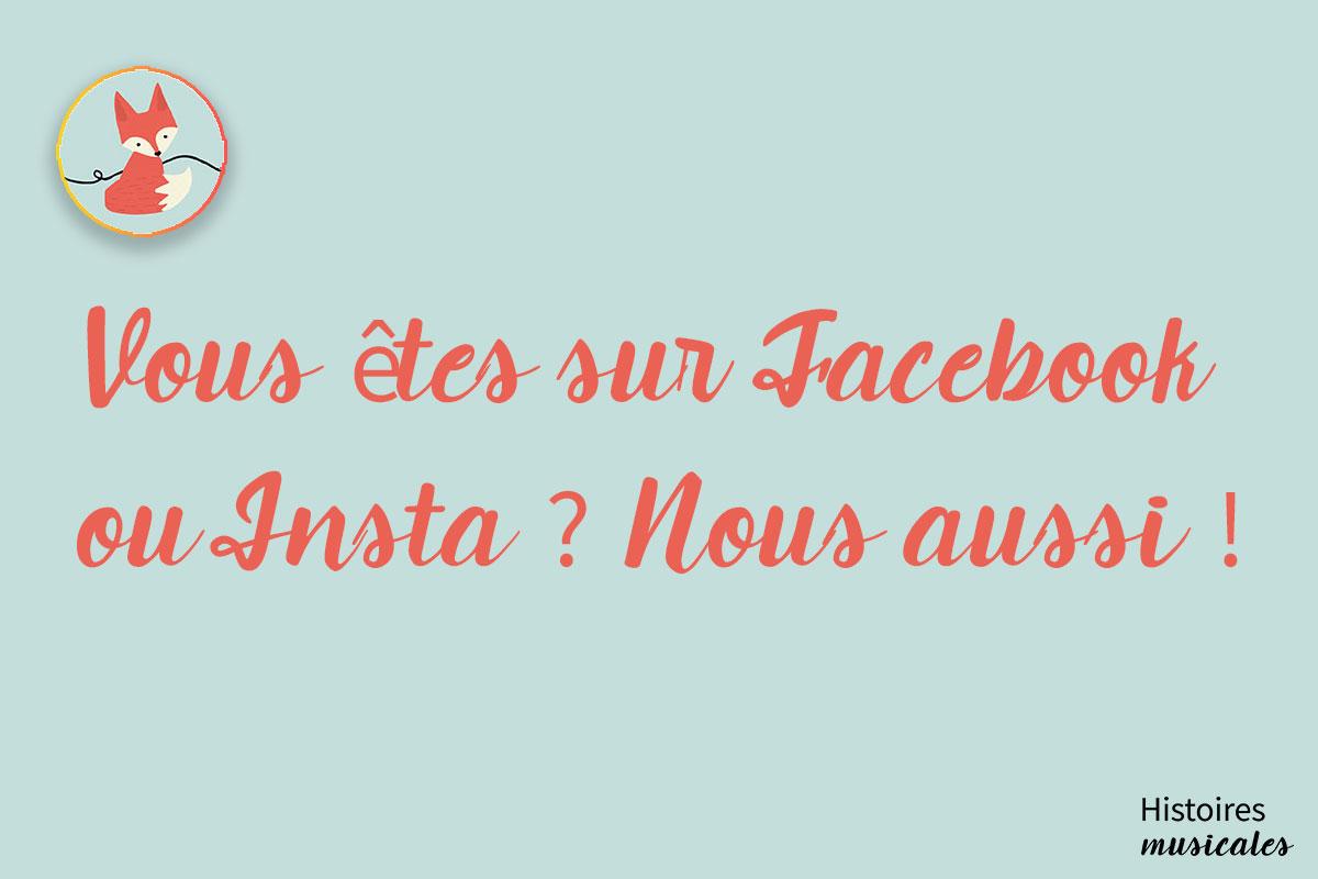 Vous êtes sur Facebook ou Insta ? Nous aussi !!